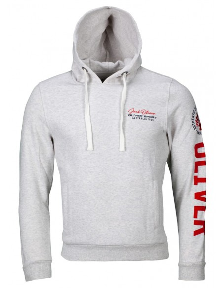 "Sweat à capuche ""Authentic"" blanc avec logo"