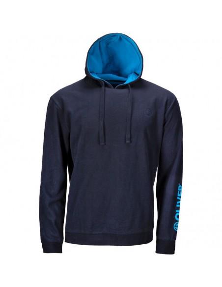 Sweat à capuche Basique bleu